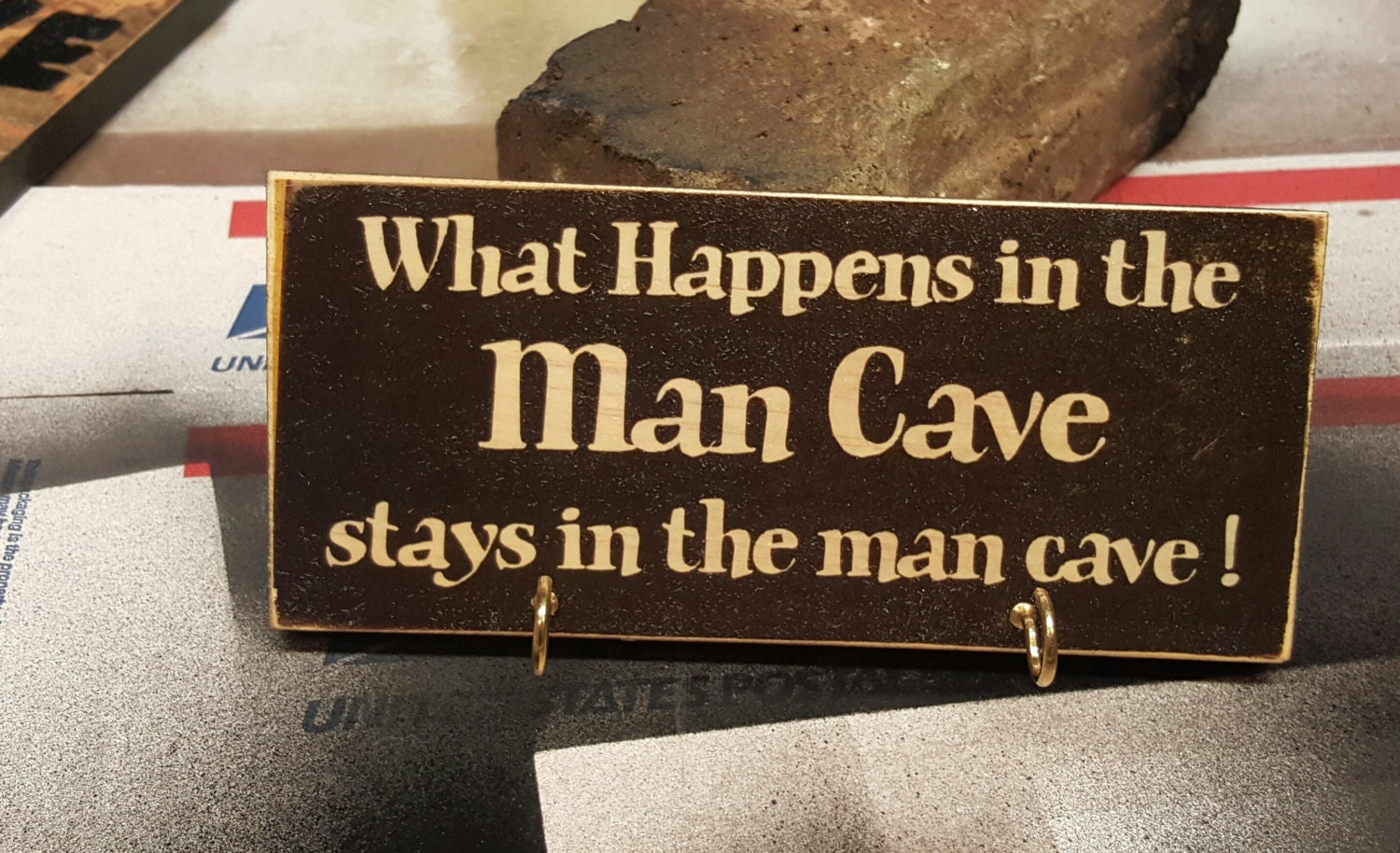 Man Cave Urban Key : Man cave sign key holder wood ntoys by
