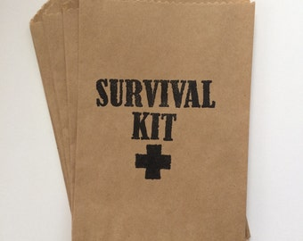 Camping Survival Kit Favor Bags, Set of 25