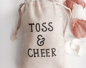 Toss Me! Muslin Wedding Bags Set of 10 (3x5 shown)