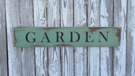 Garden Sign, 70 Color Options, Wood Garden Sign, les jardins sign, rustic garden sign, Beach House Sign
