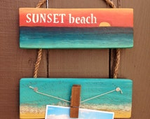 Hawaii Picture Frame Hanger Beach Style Wooden Wall Decor 4x6 5x7 Pictures