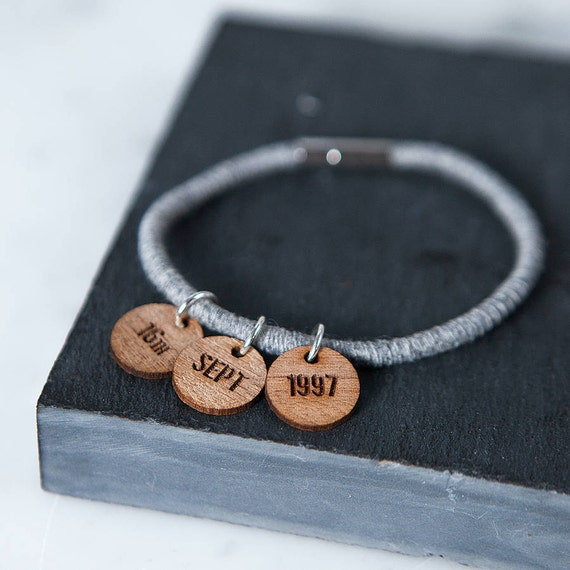 Bronze Key Chain Date Tag Calendar charm. by PersonalizedTreazure