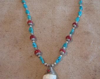 JN50 Tibetan Turquoise Necklace