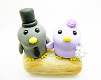 Bird couple wedding cake toppers