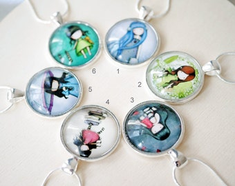 Little girl cabochon necklace