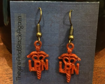 Orange LPN Earrings