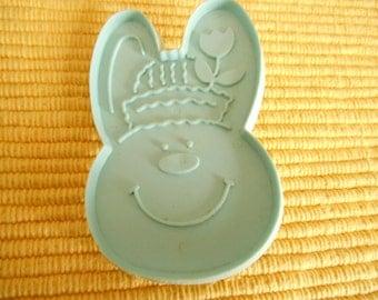Hallmark Girl, Bernadette Bunny Rabbit  4.25 inch by 2.5 inch Light Blue Hallmark