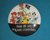 "Disney Cruise Pirate Night - ""This IS my Pirate Costume!"" - Celebration Button - Celebration Pin - Mickey & Gang Pirates"