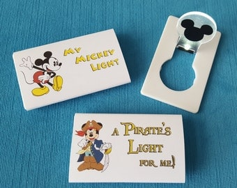 Disney Cruise Light - Night Light - Fish Extender Gift - DCL FE Gift - LED light - Classic, Pirate, or Jedi Mickey! Minnie too! You choose!