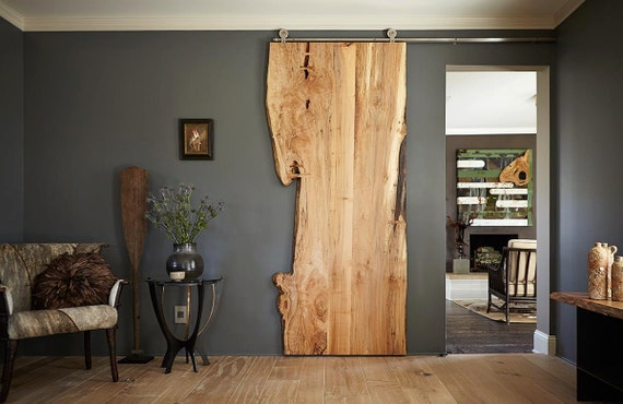 Live Edge Door Wood Slab Doors Barn Board Sliding By