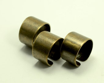 40  Pcs. Antique Brass 14 mm width , 19 mm İnside Dieameter Ring Blanks