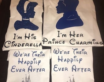 Cinderella/Prince charming/ couple/family shirts