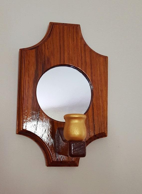 Apliques de pared de madera de teca / par de por LightlySeasoned