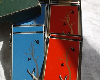Two Packs of Slender Vintage  Playing Cards