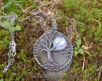READY to SHIP .999 Fine Silver Tree of Life Double Sided on Sterling Silver Chain Gift Boxed Priority Ship in USA