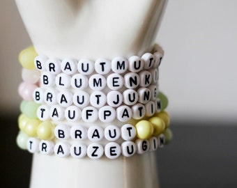 Bracelet with name, compose, vanilla, mint, or Rosé to the selection