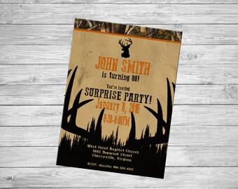 Hunting Birthday Invitation - Personalized Digital File