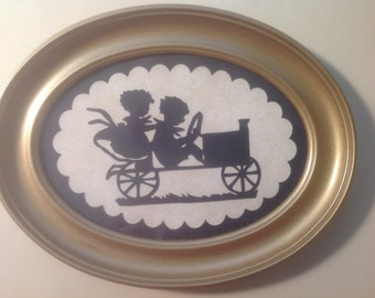 """Simply Silhouettes - Framed Die Cut Design - """"A Sunday Afternoon Drive"""""""
