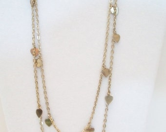 SHOP4FUN Vintage Endless Hearts Necklace Long Valentines
