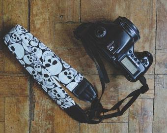 Skulls Digital SLR Camera Strap Handmade