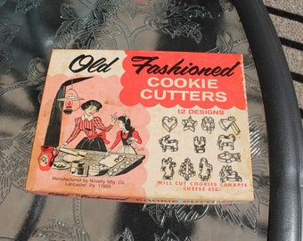 Set of Old Fashioned Cookie Cutters