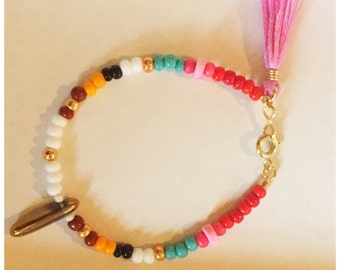 Dainty Multi Colored Seed Bead Friendship Bracelet