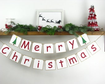 Christmas Decoration - Christmas Banner - Merry Christmas - Christmas Garland - Christmas Sign