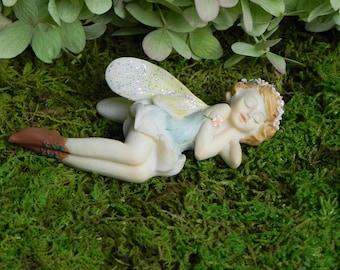Fairy Garden Sleeping Fairy, Figurine For Miniature Garden, Fairy  Accessories, Accessory For Mini