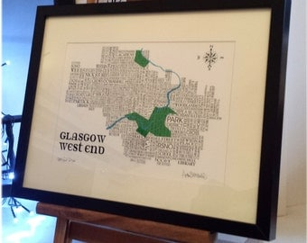 Glasgow West End Word map