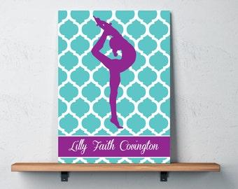 Gymnastics Wall Art gymnastic wall art | etsy