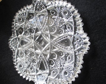 Vintage Pressed glass plate - mint condition - piece of history - Estate find!