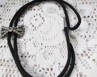 Vintage Rhinestone Bolo for the Rhinestone Cowgirl - Estate find!