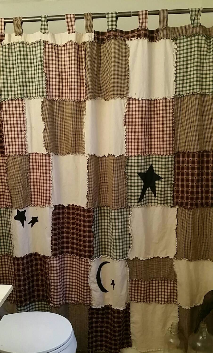 Primitive Shower Curtain Raggy Shower Curtain By