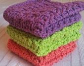 Cotton Wash Cloths, crochet wash cloths, Cotton Dish Cloths, Autumn decor, Autumn, Fall Colors, Fall Decor, Halloween Colors