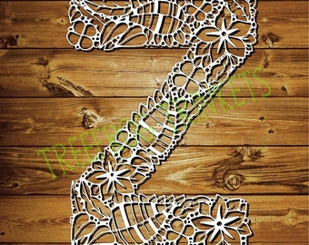 Papercut Template - Letter Z for COMMERCIAL USE