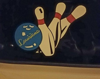 Bowling car decal