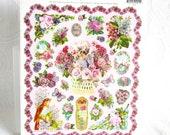 Victorian Flower and Bird Images Die Cut Stickers