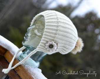 """Crochet Pattern: """"Winter Poms"""" Slouch 2 Options, Sizes Preemie thru Adult, Permission to Sell Finished Items"""