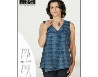 "Pattern ""Asymmetrical Top & Tunic"" by Indygo Junction (IJ1149E) Paper Pattern"
