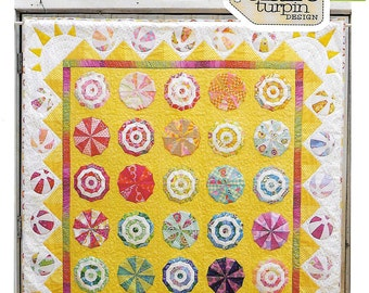 Pattern ''Riviera'' Applique / Foundation Pieced Quilt Pattern by Claire Turpin (CT110)