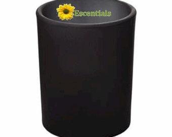 Black Frosted Votive Candle Holder
