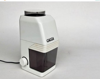 20% OFF Vintage  Electric Coffee Grinder / MM 0400 Brevetti by Gaggia / 70's Italy / White