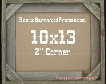 10x13 2 corner rustic barn wood aged weathered reclaimed primitive photo picture frame 10 x 13 unfinished repurposed barnwood frames