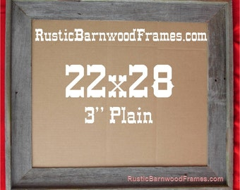 22x28 3 plain rustic barn wood aged weathered reclaimed primitive photo picture frame 22 x 28 unfinished repurposed barnwood frames