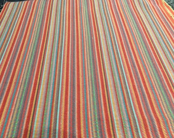 Red striped table runner  up to 71 inches long