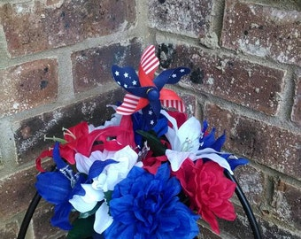 July 4th centerpiece, Labor Day, Veterans Day, Memorial Day, Patriotic
