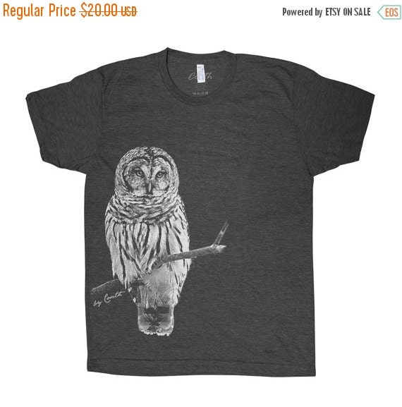 Summer sale owl t shirt men graphic tee custom by for T shirt graphics for sale