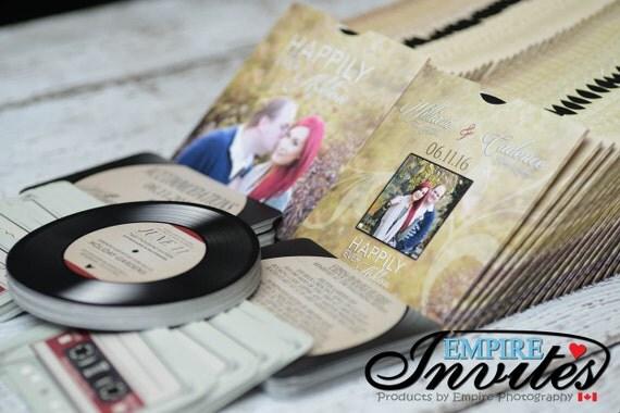 Record Wedding Invitations: Record Wedding Invitations Vinyl Record Invitations Optional