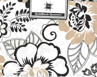 Quiltblock Quarters Fat Quarter Floral Fabric Cotton Quilting Cloth 18 x 21 Material Craft Supply Quilt Project Bohemian New In Package