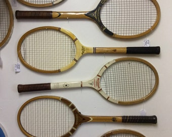 Vintage Tennis Rackets Collection or Individual purchase available